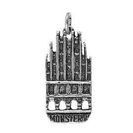 Anhänger Münster, Historisches Rathaus in echt Sterling-Silber 925 oder Gold, Ketten- oder Schlüssel-Anhänger