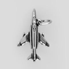 Anhänger Düsenjäger F-4 Phantom in echt Sterling-Silber 925 oder Gold, Charm, Ketten- oder Bettelarmband-Anhänger