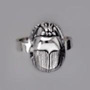 Ring Skarabäus, Heiliger Pillendreher, Schutzsymbol in echt Sterling-Silber 925 oder Gold