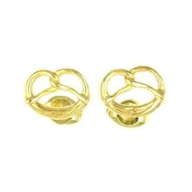 Ohrstecker Brezeln in echt Sterling-Silber 925 oder Gold, Trachtennschmuck