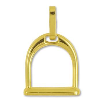 Anhänger Steigbügel in echt Gold, Ketten- oder Schlüssel-Anhänger
