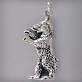 Anhänger Bär stehend in Silber oder Gold, Charm T154,  Kettenanhänger oder Bettelarmband-Anhänger