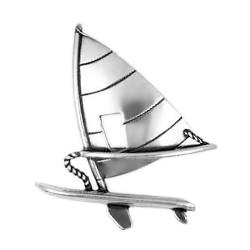 Anhänger Surfbrett in echt Sterling-Silber 925 und Gold, Ketten- oder Schlüssel-Anhänger