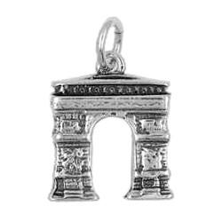 Anhänger Paris, Triumphbogen in echt Sterling-Silber 925 oder Gold, Charm, Ketten- oder Bettelarmband-Anhänger