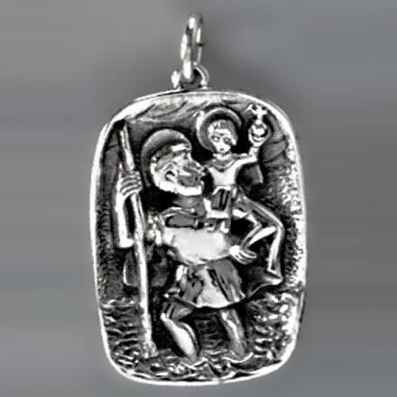 Anhänger Christophorus in echt Silber oder Gold, Ketten- oder Schlüssel-Anhänger
