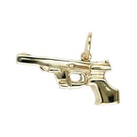 Anhänger Sportpistole, Walther GSP in echt Sterling-Silber 925 oder Gold, Charm, Ketten- oder Bettelarmband-Anhänger