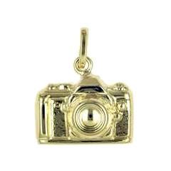 Anhänger Kamera, Camera, Fotoapparat in echt Sterling-Silber 925 oder Gold, Charm, Ketten- oder Bettelarmband-Anhänger