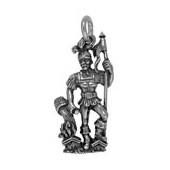 Anhänger St. Florian in echt Sterling-Silber 925 oder Gold, Ketten- oder Schlüssel-Anhänger
