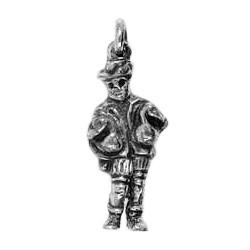Anhänger Nürnberg, Gänsemännchen in echt Sterling-Silber 925 oder Gold, Charm, Ketten- oder Bettelarmband-Anhänger
