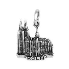 Anhänger Köln, Dom in echt Sterling-Silber 925 oder Gold, Charm, Ketten- oder Bettelarmband-Anhänger