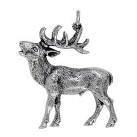 Anhänger Hirsche, Charms in Silber & Gold