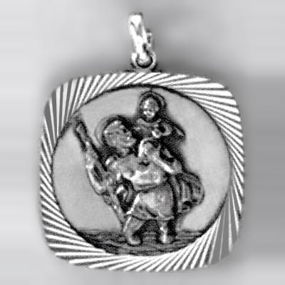 Anhänger St.Christophorus in echt Sterling-Silber 925, Ketten- oder Schlüssel-Anhänger