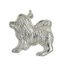 Anhänger Chow-Chow, Hund in echt Sterling-Silber 925 oder Gelbgold, Ketten- oder Schlüssel-Anhänger