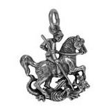 Anhänger Märtyrer, Nothelfer Heiliger Georg in echt Sterling-Silber 925 oder Gold, Ketten- oder Schlüssel-Anhänger