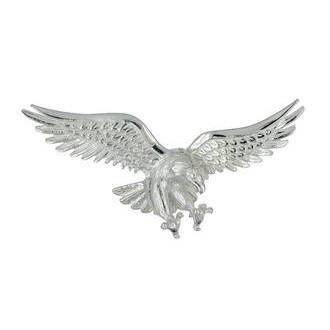 Kettenananhänger Adler in echt Sterling-Silber oder Gelbgold mit 2 Ösen