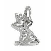 Anhänger Froschkönig in echt Sterling-Silber oder Gold, Charm, Ketten- oder Bettelarmband-Anhänger