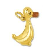 Anhänger Ente in echt Gelbgold, Charm, Ketten- oder Bettelarmband-Anhänger