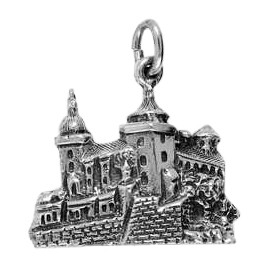Anhänger Würzburg, Festung Marienberg in echt Sterling-Silber 925 oder Gold, Charm, Ketten- oder Bettelarmband-Anhänger