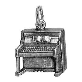 Anhänger Klavier in echt Sterling-Silber 925 oder Gold, Charm, Ketten- oder Bettelarmband-Anhänger
