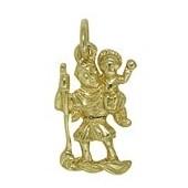 Anhänger Christophorus in echt Sterling-Silber 925 oder Gold, Charm, Ketten- oder Bettelarmband-Anhänger