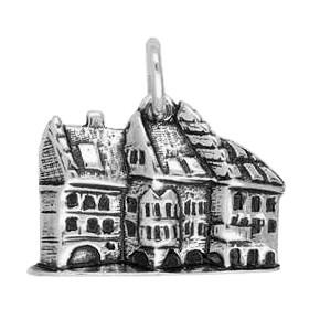 Anhänger München, Hofbräuhaus in echt Sterling-Silber 925 oder Gold, Charm, Ketten- oder Bettelarmband-Anhänger