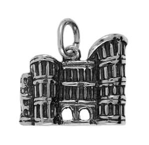 Anhänger Trier, Porta Nigra in echt Sterling-Silber 925 oder Gold, Charm, Ketten- oder Bettelarmband-Anhänger