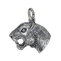 Anhänger Tigerkopf in echt Sterling-Silber 925 oder Gold, Ketten- oder Schlüssel-Anhänger