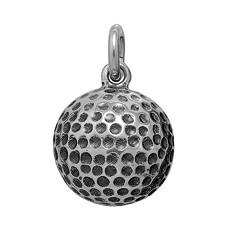 Anhänger Golfball in echt Sterling-Silber 925 oder Gold, Ketten- oder Schlüssel-Anhänger