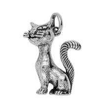 Anhänger Katzen, Charms in Silber & Gold