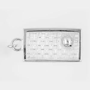 Anhänger Fussballtor in echt Sterling-Silber 925, Ketten- oder Schlüssel-Anhänger