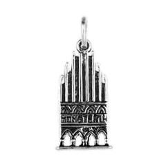 Anhänger Münster, Historisches Rathaus in echt Sterling-Silber 925 oder Gold, Charm, Ketten- oder Bettelarmband-Anhänger