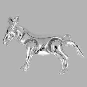 Anhänger Esel in echt Sterling-Silber 925 beweglich, Ketten- oder Schlüssel-Anhänger
