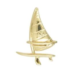 Anhänger Surfboard mit Rigg in echt Sterling-Silber 925 oder Gold, Charm, Ketten- oder Bettelarmband-Anhänger