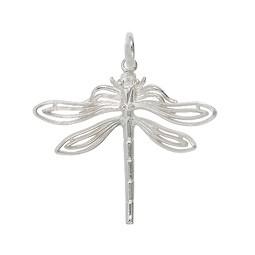 Anhänger Libelle in echt Sterling-Silber 925 oder Gold, Ketten- oder Schlüssel-Anhänger