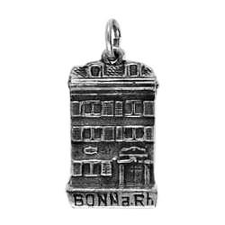 Anhänger Bonn, Beethoven-Haus in echt Sterling-Silber 925 oder Gold, Charm, Ketten- oder Bettelarmband-Anhänger