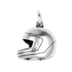 Anhänger Sturzhelm, Motorradhelm in echt Sterling-Silber 925 oder Gold, Charm, Ketten- oder Bettelarmband-Anhänger