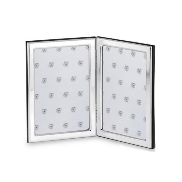 Doppelter Fotorahmen in echt Sterling-Silber 925, 10 x 15 cm
