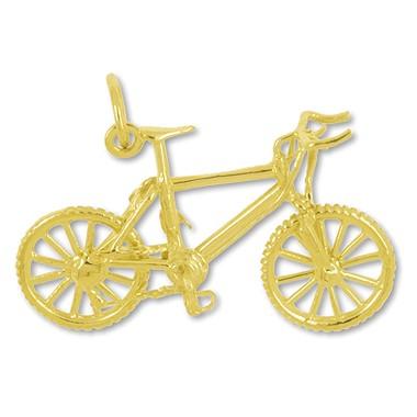Anhänger MTB in echt Sterling-Silber 925 oder Gelbgold, Charm, Ketten- oder Bettelarmband-Anhänger