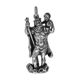 Anhänger Christophorus in echt Sterling-Silber 925 oder Gold, Ketten- oder Schlüssel-Anhänger