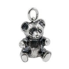 Anhänger Teddybär in echt Sterling-Silber 925 oder Gold, Ketten- oder Schlüssel-Anhänger