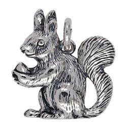 Anhänger Eichhörnchen, Charms in Silber & Gold