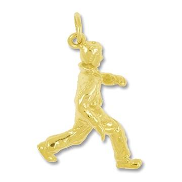 Anhänger Jogger in echt Sterling-Silber 925 oder Gold, Ketten- oder Schlüssel-Anhänger
