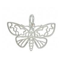 Anhänger Schmetterling, Falter in echt Sterling-Silber 925 oder Gelbgold, Ketten- oder Schlüssel-Anhänger
