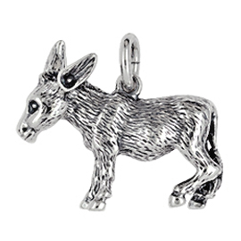 Anhänger Esel, Charms in Silber & Gold
