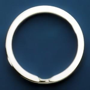 Spaltring, Schlüsselring in echt Sterling-Silber 925 für Anhänger