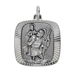 Anhänger Sankt Christophorus in echt Sterling-Silber 925, Ketten- oder Schlüssel-Anhänger