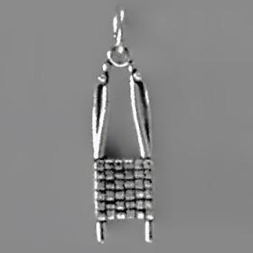 Anhänger Rennrodel in echt Sterling-Silber 925 oder Gold, Charm, Ketten- oder Bettelarmband-Anhänger