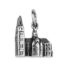 Anhänger Kölner Dom in echt Sterling-Silber 925 oder Gold, Charm, Ketten- oder Bettelarmband-Anhänger