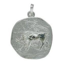 Anhänger Stier, Tierkreiszeichen, Sternzeichen in echt Sterling-Silber 925 oder Gold 333 oder 585, Ketten- oder Schlüssel-Anhänger