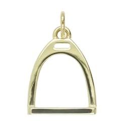 Anhänger Steigbügel in echt Sterling-Silber 925 weiß oder Gold, Charm, Ketten- oder Bettelarmband-Anhänger
